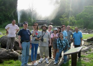 All of Us in Front of the Geyser